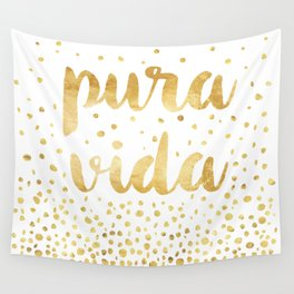 Pura Vida Gold Champagne Bubble Design Wall Tapestry