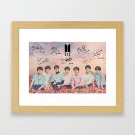 BTS Seoul Framed Art Print