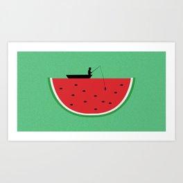 Watermelon Fisher Art Print