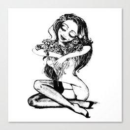 Sweet & dreamy girl Canvas Print