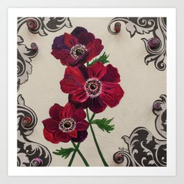 Purple Poppies Art Print