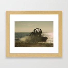 Hovercraft gold Framed Art Print