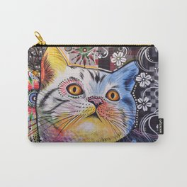 Chloe ... Abstract cat pet animal kitty art Carry-All Pouch