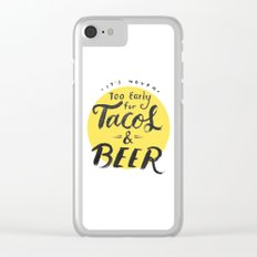 Tacos & Beer Clear iPhone Case