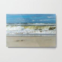 Beach North Sea Waves Denmark Hvide Sande Metal Print