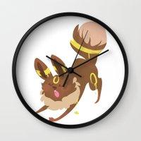 umbreon Wall Clocks featuring Umbreon by Dani Tea