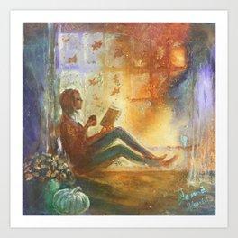 Reading Season Art Print