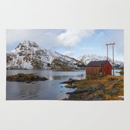 The Red Shed Panorama Rug