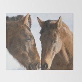 Two Western Horses Throw Blanket