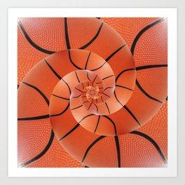 Droste Basketball Spiral  Art Print