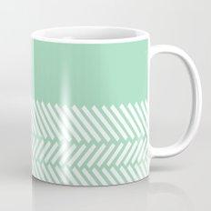Herringbone Mint Boarder Mug