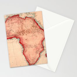 Map Of Africa 1844 Stationery Cards