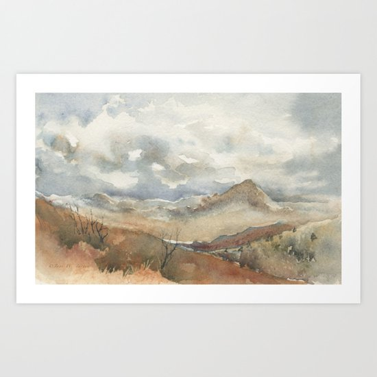 Old Stagecoach route to Nutt Art Print