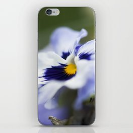 Blue Pansy II iPhone Skin