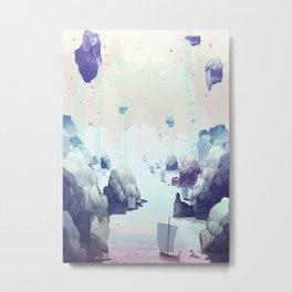 Edge of the Earth Metal Print