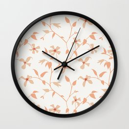 Floral Clematis Vine Wall Clock