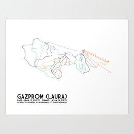 Gazprom (Laura) Mountain Resort, Sochi, Russia - North American Edition - Minimalist Trail Art Art Print