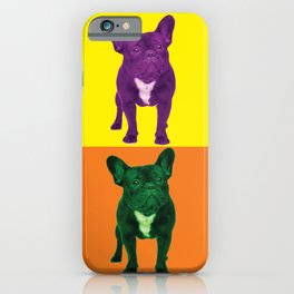 Four French Bulldogs by Crow Creek Cool iPhone Case