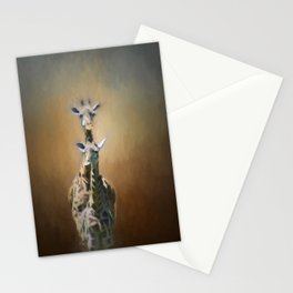 Mom and baby Giraffe Stationery Cards