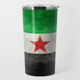Syrian independence flag, vintage style Travel Mug