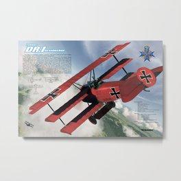 Fokker Dr.I Metal Print