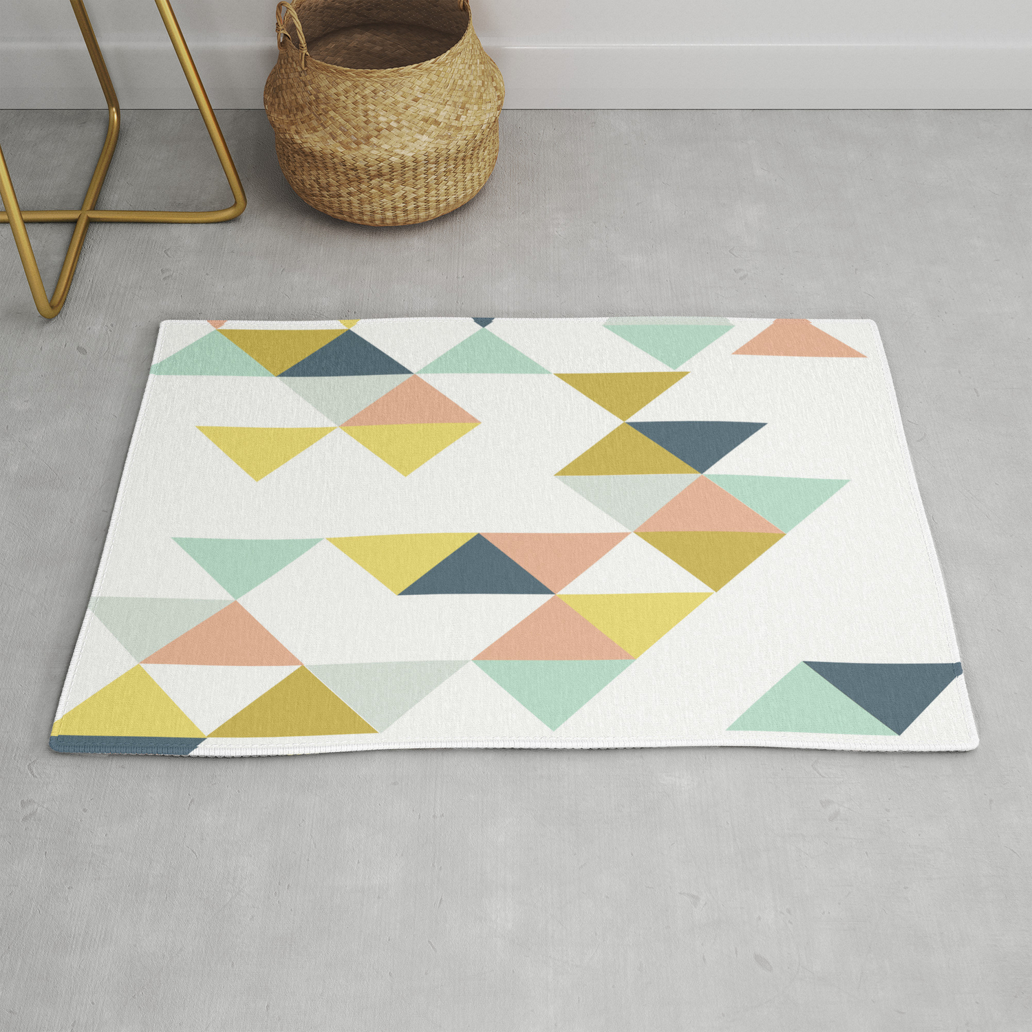 Modern Geometric Design Rug By