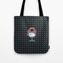 parrots on the cup of glass Tote Bag