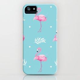 Sweet Flamingo Pattern. iPhone Case