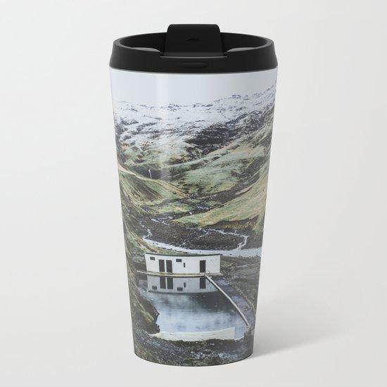 Seljavallalaug, Iceland Metal Travel Mug