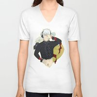 dmmd V-neck T-shirts featuring Dive into DMMd Clear by Collette Ren