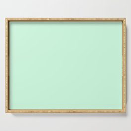 Pale Green Summermint Pastel Green Mint Serving Tray