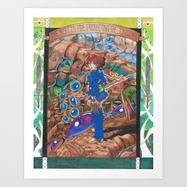 Nausicaa and the Ohmu Art Print