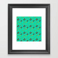 Disko Galerie funky pattern Framed Art Print
