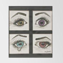 Eyes Show Emotions Throw Blanket