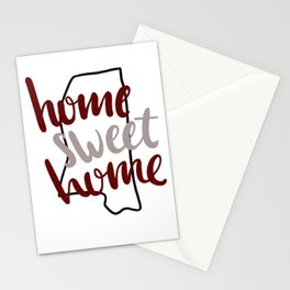Home Sweet Home Mississippi Stationery Cards