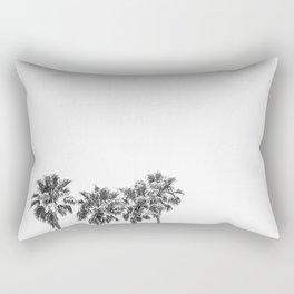 Minimalist Palm trees black-and-white photography Rectangular Pillow