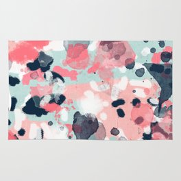 Jilly - modern abstract gender neutral canvas art print large scale abstract painting Rug