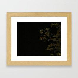 Branches at Night Framed Art Print