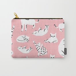 Cat Pattern - Pink Carry-All Pouch
