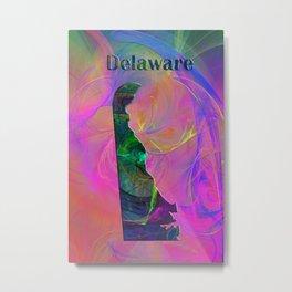 Delaware Map Metal Print