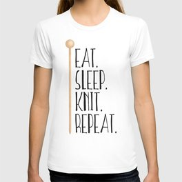 Eat Sleep Knit Repeat T-shirt