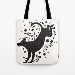 Dogs of Fall - black and white Tote Bag