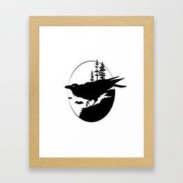 Raven Silhouette II Framed Art Print