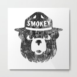 Smokey Bear Distressed Logo Metal Print