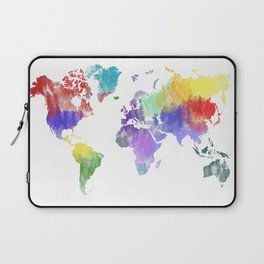 Colorful world map Laptop Sleeve