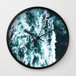 Sea Waves Dark Wall Clock