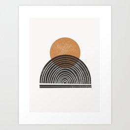 Rodi - warm, neutral, minimal, sun, sunset, ochre, earth toned, earth tone, simple art Art Print