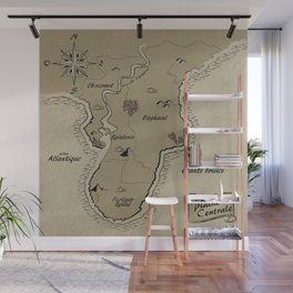 Mythos : Carte de la Pointe Australe Wall Mural