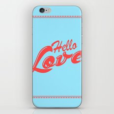 Hello, love | Typography iPhone & iPod Skin