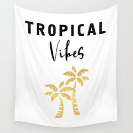 TROPICAL VIBES - Palm Trees and Beaches Wall Tapestry